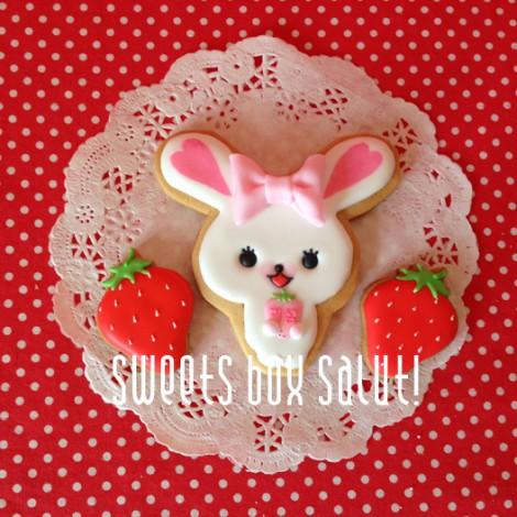 うさぎのモフィちゃんのアイシングクッキー