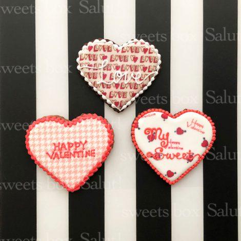 【完売御礼】バレンタインアイシングクッキー20201