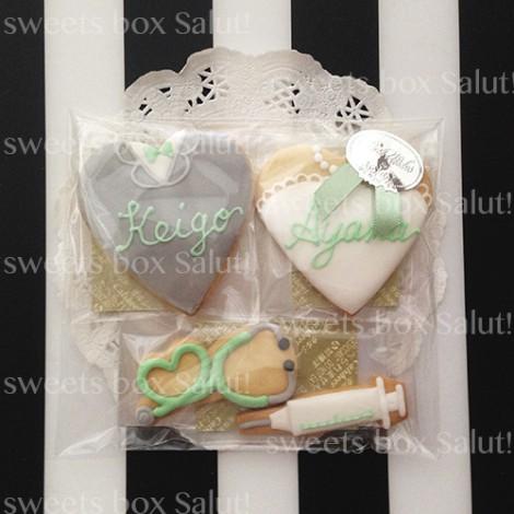 結婚式プチギフトのアイシングクッキー1