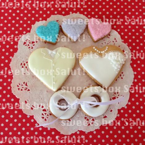 ご結婚お祝いのアイシングクッキー