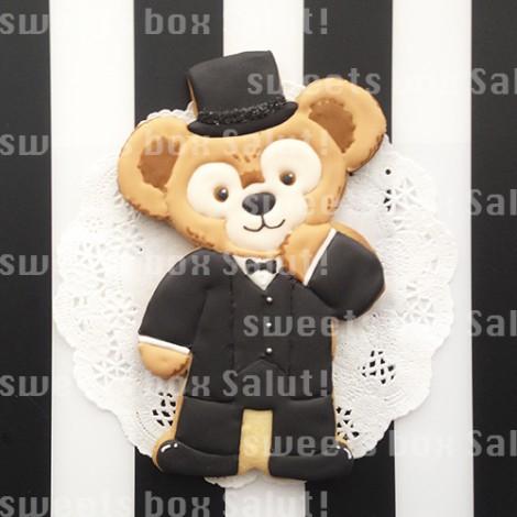ダッフィー&シェリーメイの結婚式用アイシングクッキー2