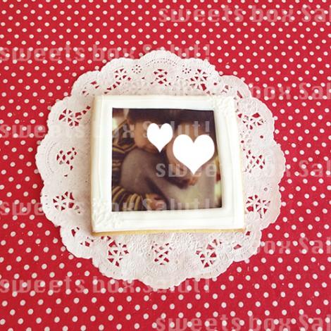 結婚祝いにフォトフレーム風プリントアイシングクッキー