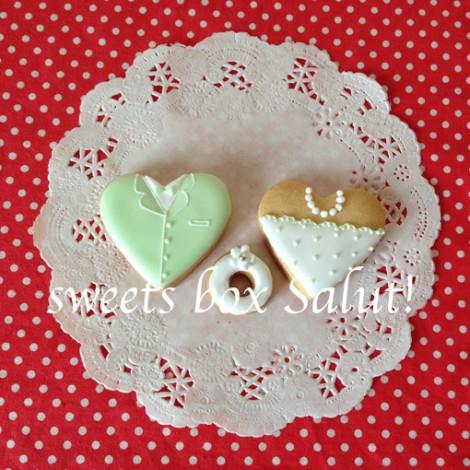 結婚式プチギフトのアイシングクッキー