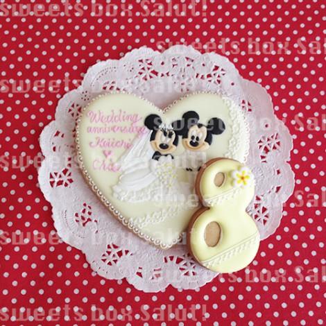 結婚記念日用ミッキー&ミニーのアイシングクッキー1