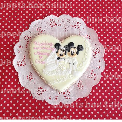 結婚記念日用ミッキー&ミニーのアイシングクッキー2