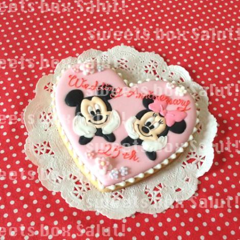 結婚25周年記念お祝いのアイシングクッキー