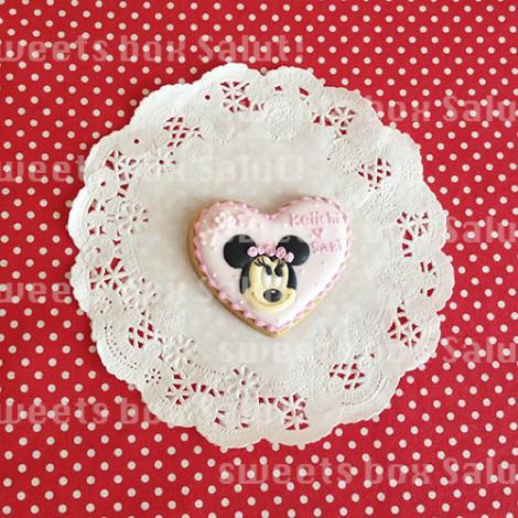 結婚記念日用ミッキー&ミニーのアイシングクッキー3