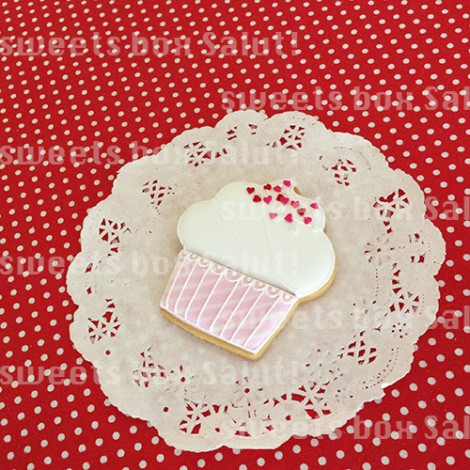ホワイトデーにカップケーキのアイシングクッキー1
