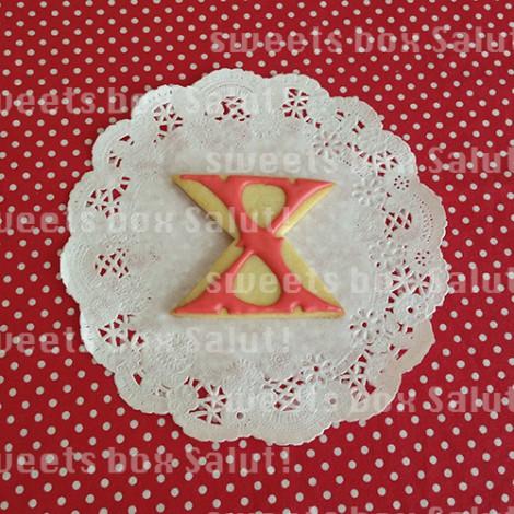 「X JAPAN」ロゴのアイシングクッキー2