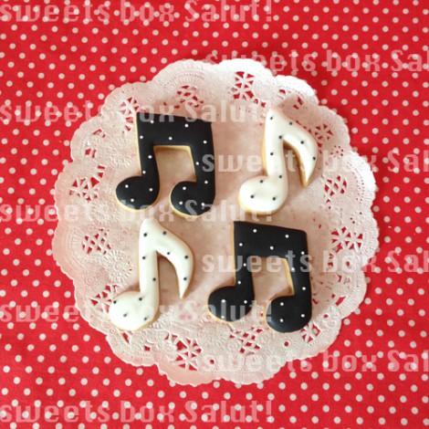 ママさんブラスバンドのロゴのアイシングクッキー3
