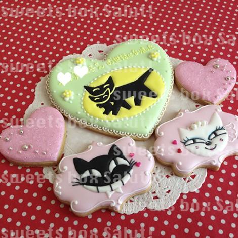 ロゴ入り結婚祝い&お礼のアイシングクッキー1