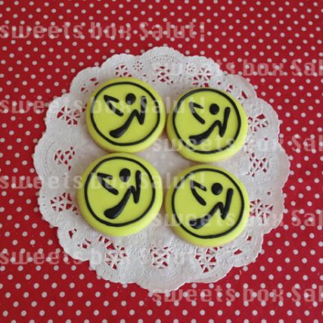人気ダンスフィットネス「ZUMBA」ロゴのアイシングクッキー1