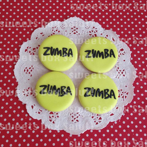 人気ダンスフィットネス「ZUMBA」ロゴのアイシングクッキー2