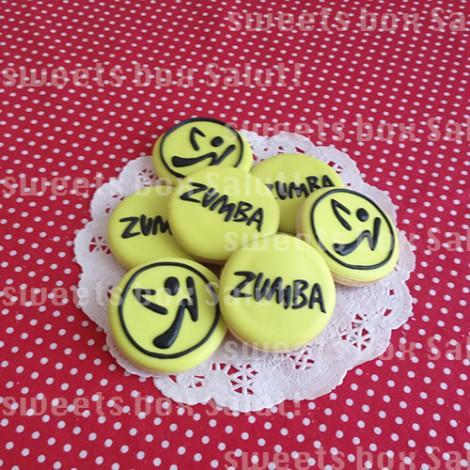 人気ダンスフィットネス「ZUMBA」ロゴのアイシングクッキー3