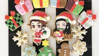 「鬼滅の刃」キャラモチーフのクリスマスアイシングクッキー