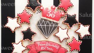 大人女子へのお誕生日用アイシングクッキー