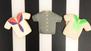 制服のプリントアイシングクッキー