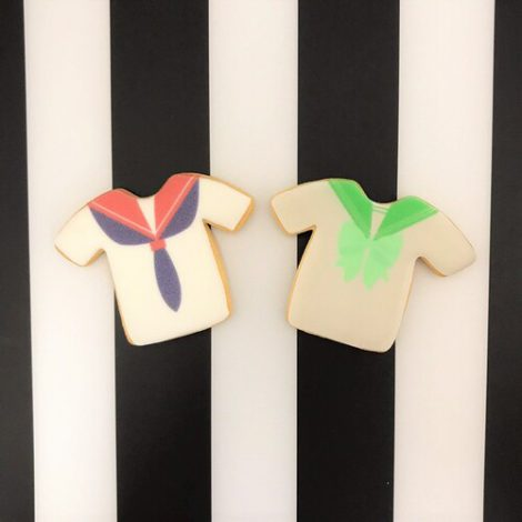 制服のプリントアイシングクッキー3