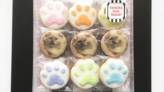 猫ちゃん好き必見!肉球のアイシングクッキーセット