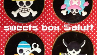 ONEPIECEの海賊旗のアイシングクッキー