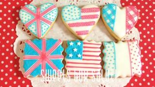 三色国旗のアイシングクッキー