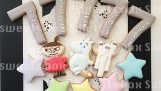 ネイルサロン7周年記念のアイシングクッキー
