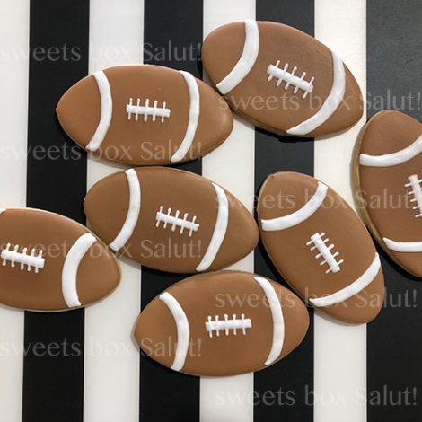 アメフトボールのアイシングクッキー