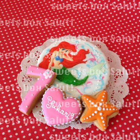 アリエルのお誕生日用アイシングクッキー1