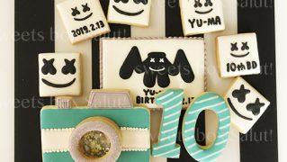 マシュメロのお誕生日用アイシングクッキー