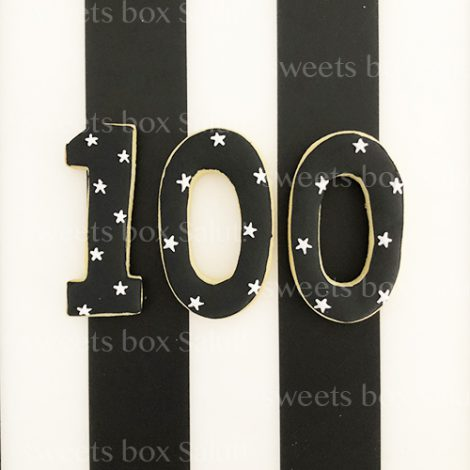 赤ちゃんの100日祝い(お食い初め)用アイシングクッキー(ポップス)2