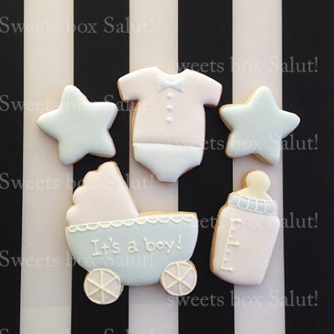 出産内祝い・100日(お食い初め)祝い用アイシングクッキーセット通販2