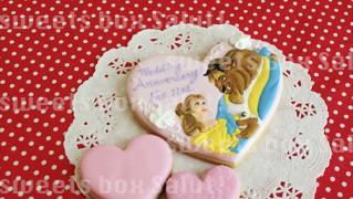 美女と野獣のアイシングクッキー