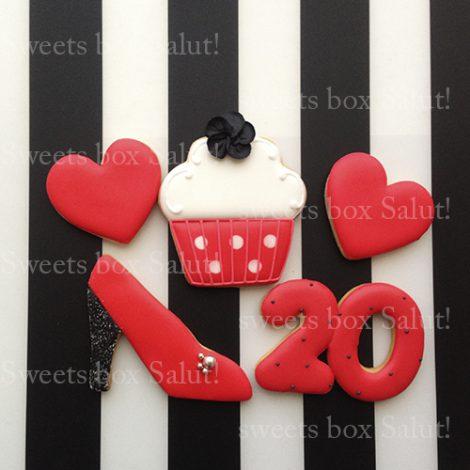 COOLな大人女子向けの誕生日アイシングクッキーセット通販3