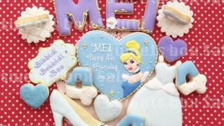 シンデレラのお誕生日用アイシングクッキー
