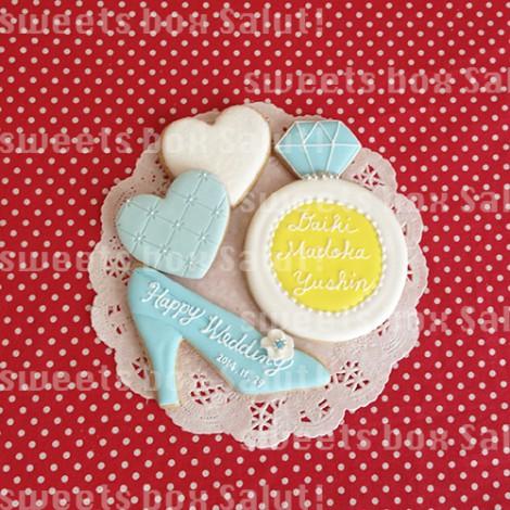 シンデレラの結婚式用アイシングクッキー5