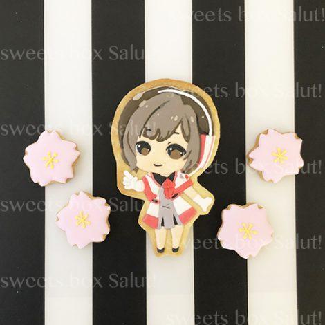 まりなちゃん5周年記念アイシングクッキー