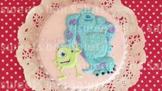 「モンスターズインク」マイクとサリーのアイシングクッキー
