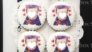 1歳の誕生日用プリントアイシングクッキー