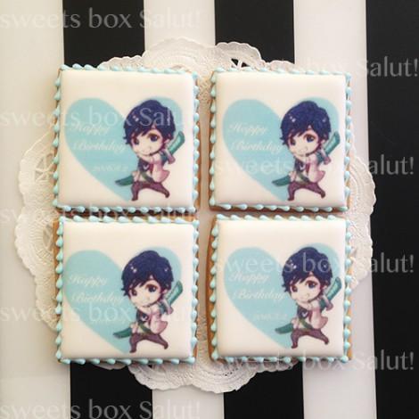 お誕生日祝いのプリントアイシングクッキー