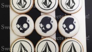 volcomさまロゴのプリントアイシングクッキー