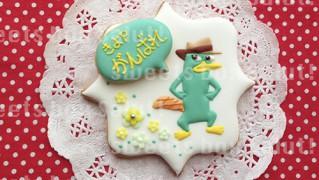 「フィニアスとファーブ」のペリーのアイシングクッキー