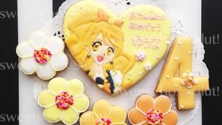 プリキュアのお誕生日用アイシングクッキー