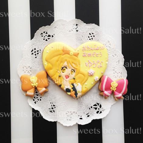 プリキュアのお誕生日用アイシングクッキー2