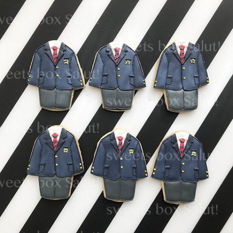 卒業・入学記念に制服のアイシングクッキー2