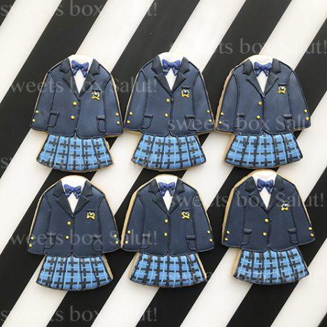 卒業・入学記念に制服のアイシングクッキー3