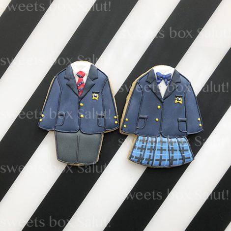 卒業・入学記念に制服のアイシングクッキー1