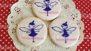 バレエ発表会のプチギフト用アイシングクッキー
