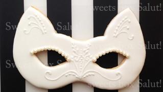 猫のベネチアンマスクアイシングクッキー