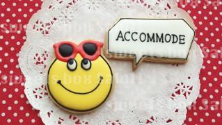 「ACCOMMODE」のアイシングクッキー