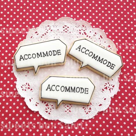 「ACCOMMODE」のアイシングクッキー2